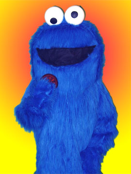 cookie monster sesame steet fun children's parties toddlers