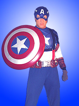 licensed captain america costume marvel superheros kid's birthday parties nj new jersey