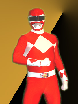 licenced power ranger costume red